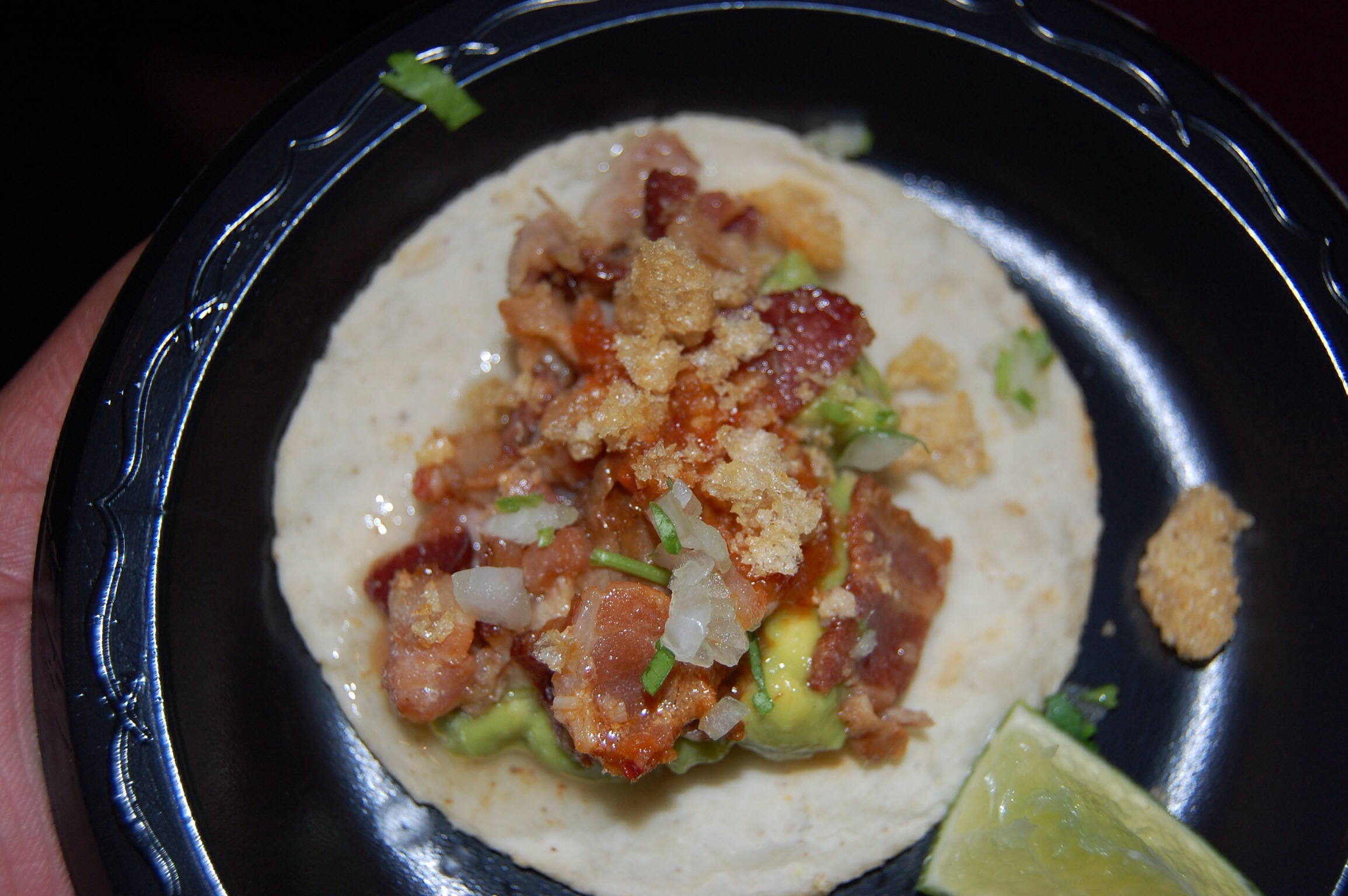 Taco Los Tres Cochintos from Loteria Grill at The Taste of Mexico