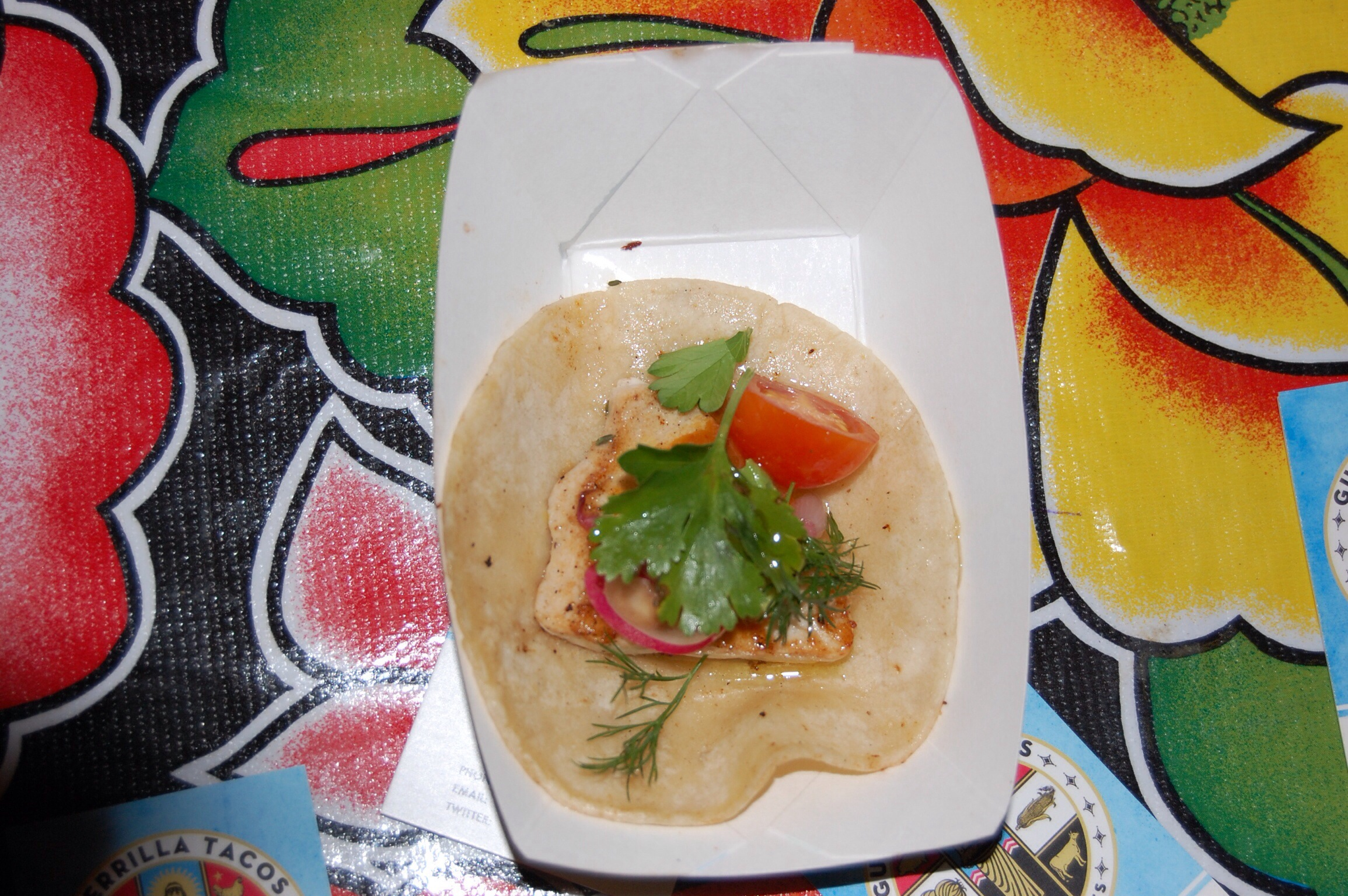 Swordfish Belly Tacos from Guerilla Tacos at The Taste of Mexico 2013