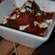 San Marzano Meatball Marinara + Sonoma Goat Cheese at Tom's Urban L.A.