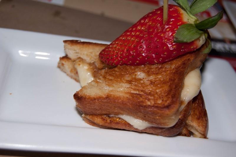 Crotian Fig Jam Grilled Cheese at Tom's Urban LA