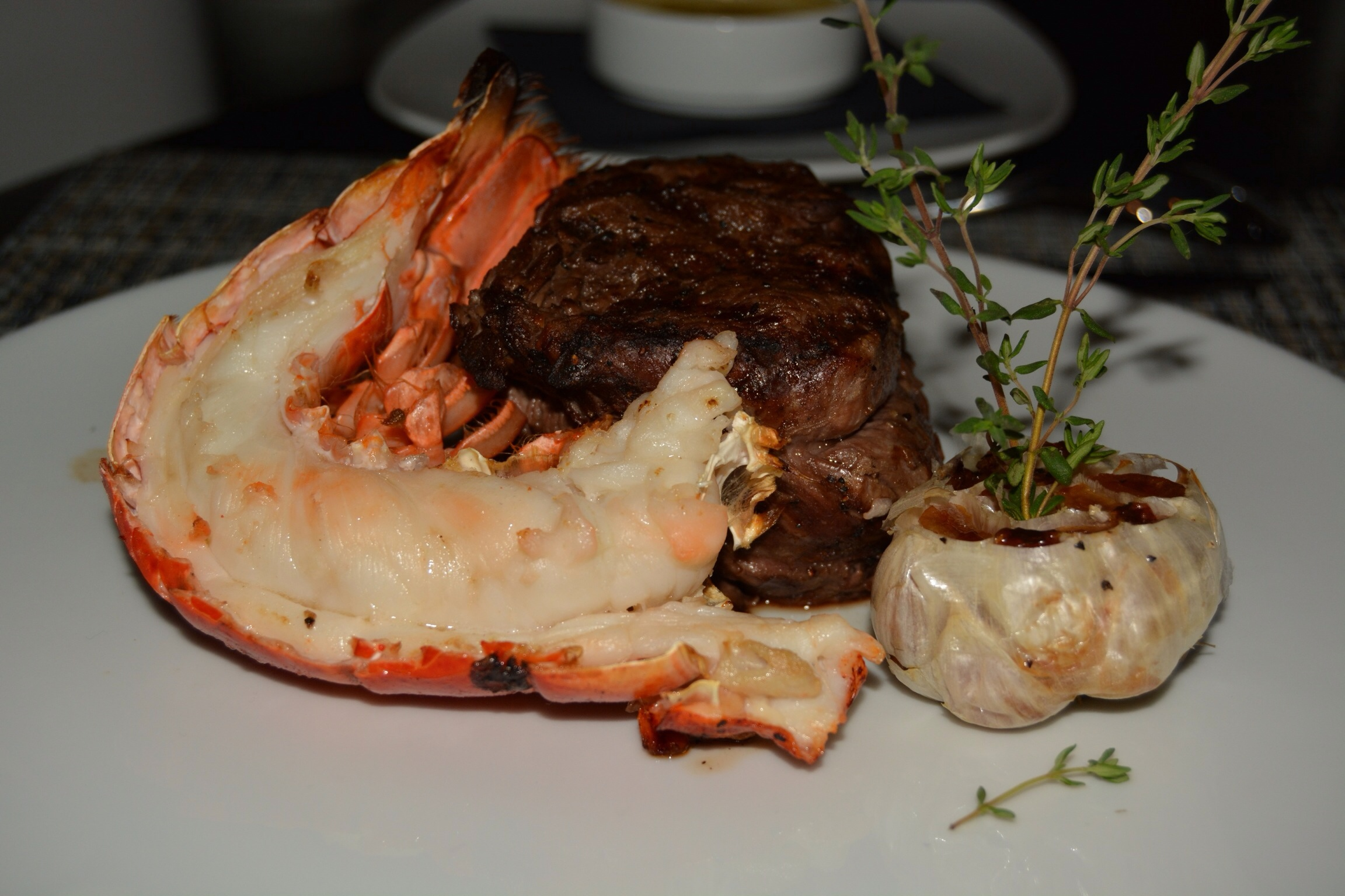 Bison & Lobster at Oliver's Prime