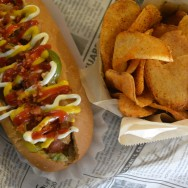 The House Dog w/ Dirty Chips at Dirt Dog LA