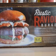 The Rustic Ravioli Burger at Slater's 50/50