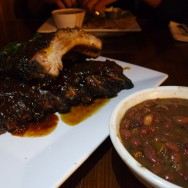 Ribs and Beans at Lenny's Smokehouse BBQ