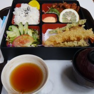 Tempura Fried Squid, and Bento w/ Miso Soup