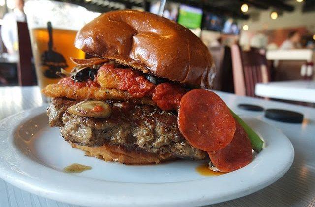 Pizza Burger at Slater's 50/50 | The Burger Crawl – Ep. 12