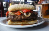 Chicago Italian Beef Burger at Slater's 50/50   The Burger Crawl – Ep. 4